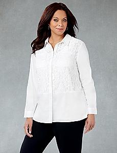 White Lace Buttondown
