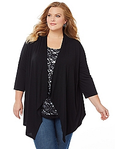 Midnight Lace Duet Top