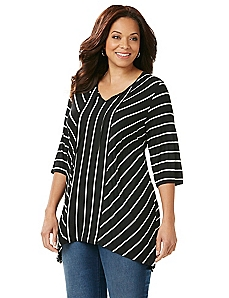 Spliced Stripe Tunic