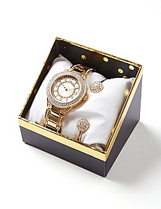 Golden Glow Watch and Bracelet Set