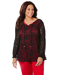 Scarlet Lace Top