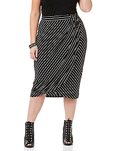 Curvy Collection Linear Wrap Skirt