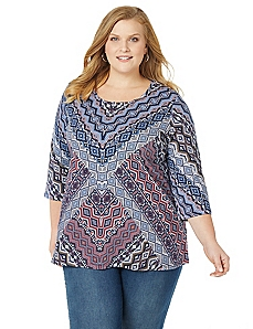 Aztec Mosaic Top