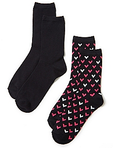 Tiny Hearts 2-Pack Socks