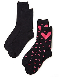 Hearts & Kisses 2-Pack Socks
