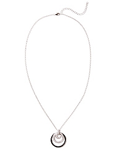 Cubic Zirconia Circles Of Light Necklace