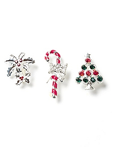 Holiday Trio Pins