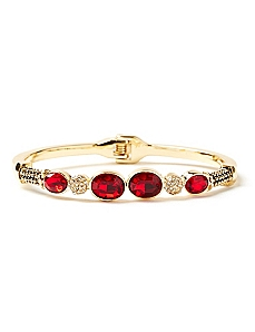 Touch Of Glamour Red Hinge Bracelet
