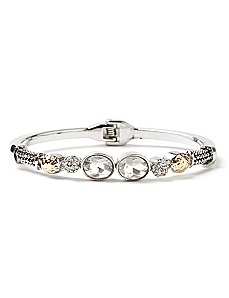 Touch Of Glamour Clear Hinge Bracelet
