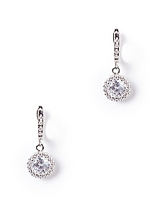 Cubic Zirconia Crystal Drop Earrings