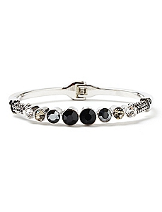Touch Of Glamour Black Hinge Bracelet