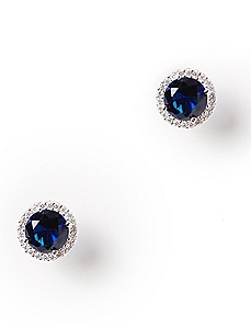 Cubic Zirconia Twinkling Halo Earrings