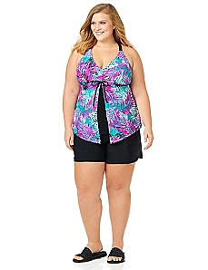 Bright Palms Swim Top