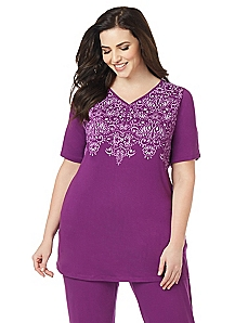 Regal Flourish Sleep Top