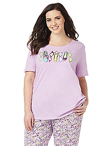 Spring Chic Graphic Sleep Tee