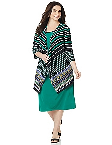 Geo Twist Jacket Dress