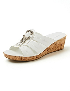 Good Soles Beaded Cork Wedge