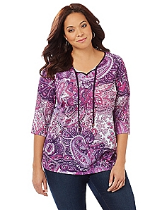 Regal Paisley Top