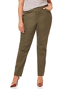 Seamed Twill Pant
