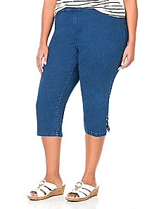 Touch Of Sparkle Denim Capri