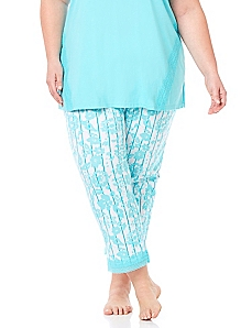 Lace Trim Sleep Capri