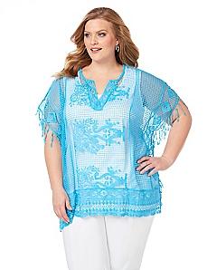 Azure Crochet Poncho
