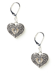 Heirloom Heart Earrings