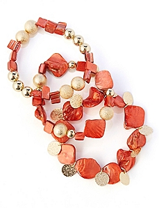 Sunset Shell Bracelet Set