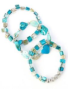 Ocean Shell Bracelet Set