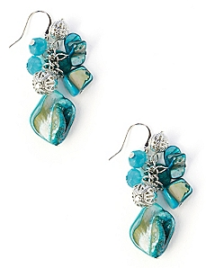 Ocean Shell Cluster Earrings