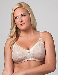 Glamorise® 1010 Lace Soft-Cup Bra by CATHERINES