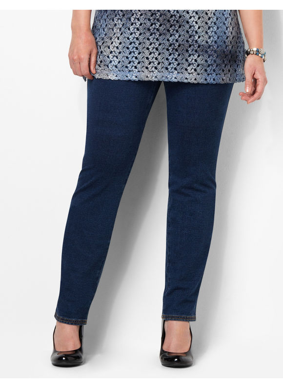 Image of Catherines Plus Size Everyday Fit Jean  Womens Size 2X Indigo