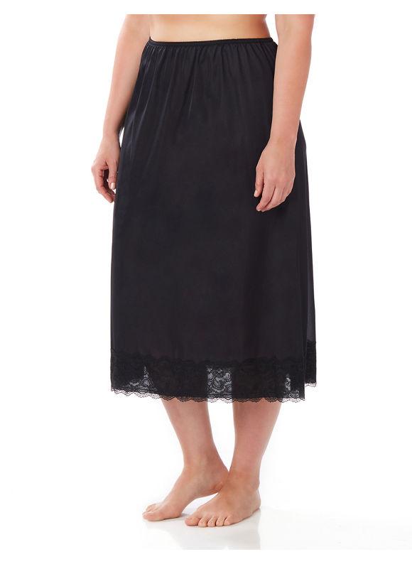 Velrose Plus Size Half Slip,  Black