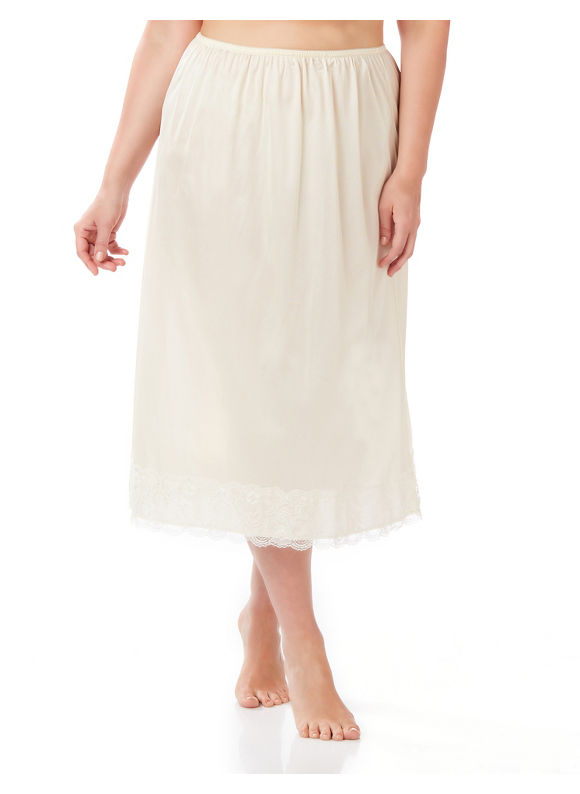 Velrose Plus Size Half Slip,  Off White