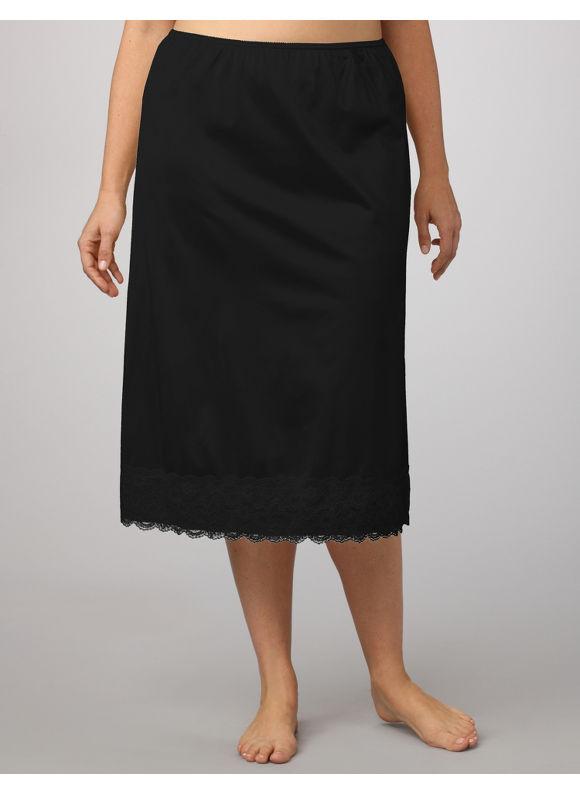 Velrose Plus Size Half Slip, Women's, Size: 3X, Black - Catherines ~ Classic Plus Size Clothes