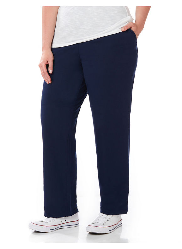 Catherines Plus Size Suprema Knit Pant (Classic Colors) - Mariner Navy