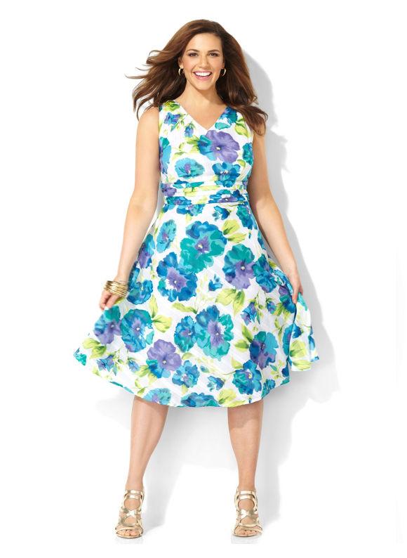 Image of Plus Size Secret Garden Dress Catherines Womens Size 24W White