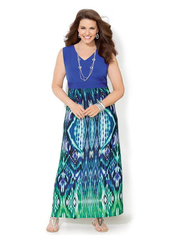 Image of Plus Size Pacific Grove Maxi Catherines Womens Size 3X Blue