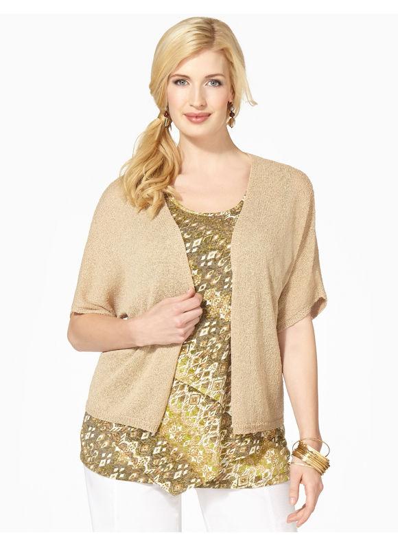 Catherines Plus Size Dolman Sleeve Shrug - Dusty Khaki