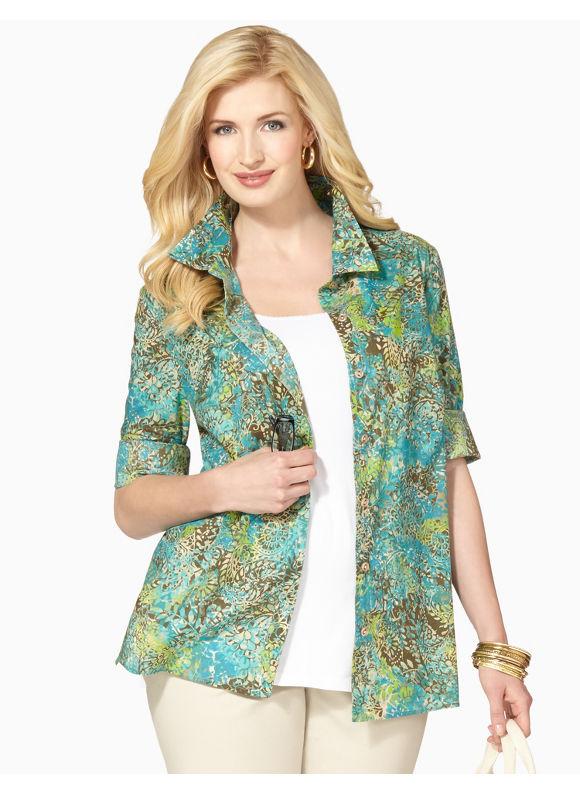 Image of Catherines Plus Size Paisley Mix Shirt  Womens Size 1X2X3X0X Multi