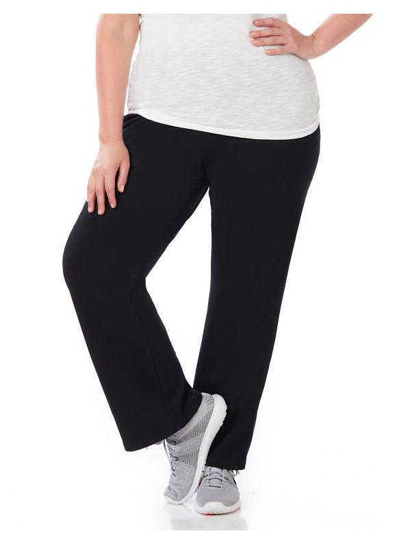 Catherines Plus Size Yoga Pant, Black