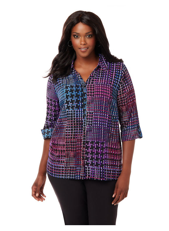 Catherines Plus Size Seance Blouse,  Women' Size: 3  Purple plus size,  plus size fashion plus size appare