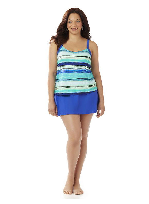 Catherines Plus Size Sea Island Swimdres Women' Size: 20W,  Bright Jade plus size,  plus size fashion plus size appare