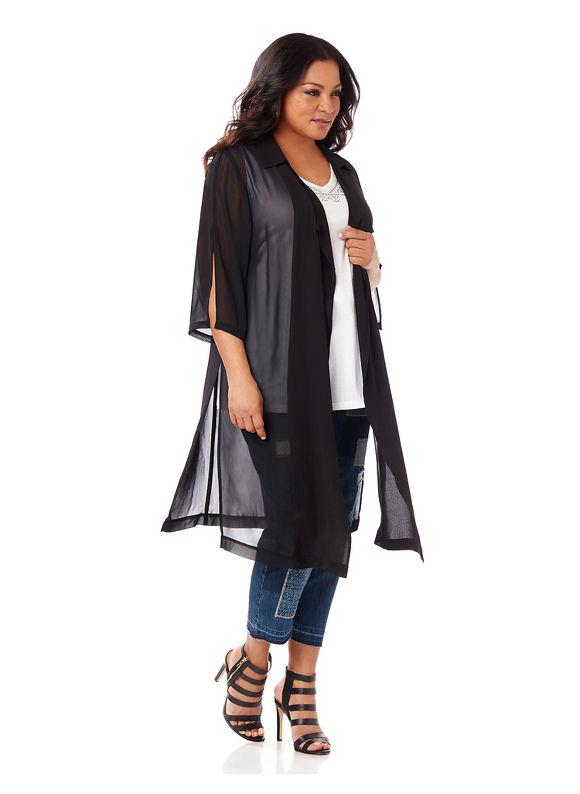 Black Label by Catherines Plus Size Black Label Elegant Evening Duster Womens Size XL $79.99 AT vintagedancer.com