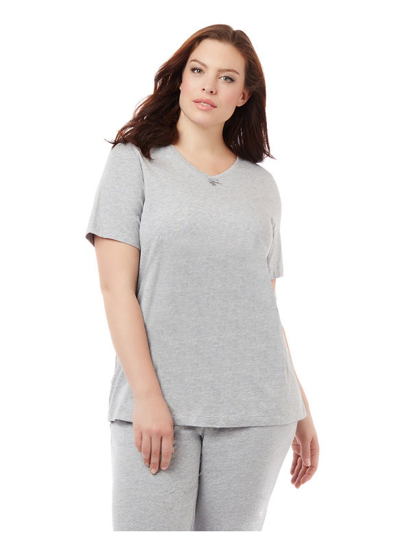 By Catherines Intimates Plus Size Essential Sleep Tee,  Women' Size: 0X,  Grey plus size,  plus size fashion plus size appare