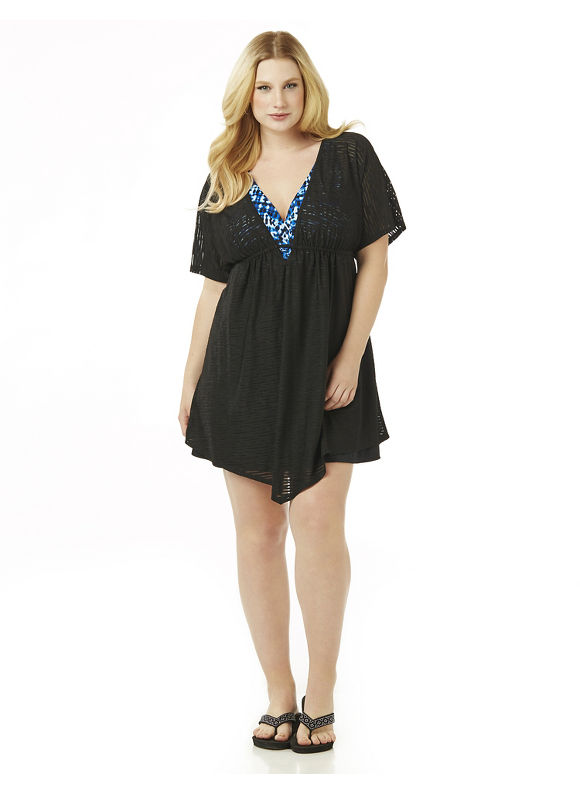 Catherines Plus Size Beach Days Cover-Up,  Women' Size: 4  Black plus size,  plus size fashion plus size appare