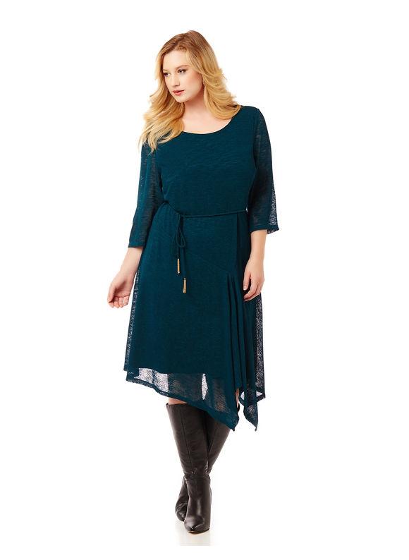 By Catherines Plus Size Upper West Side Dress, Women's, Size: 2XL, Jasper