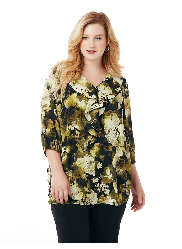 Catherines Plus Size Bowery Blouse,  Women' Size: 3  Black plus size,  plus size fashion plus size appare