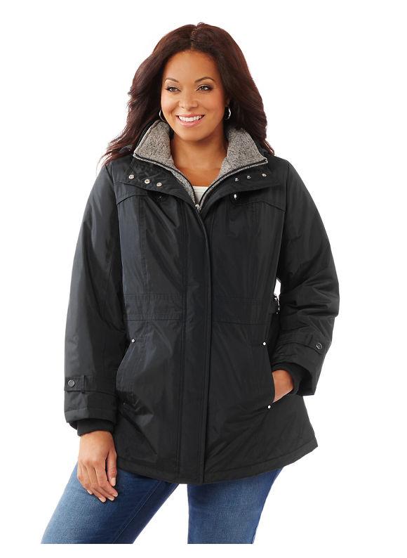 Catherines Plus Size East Vail Coat, Women's, Size: 0X, Black 236385300036250