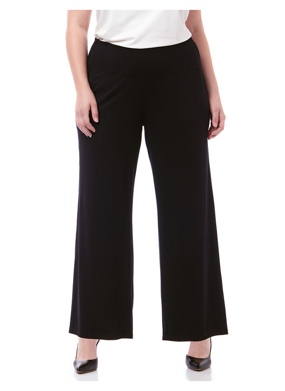 By AnyWear by Catherines Plus Size AnyWear Wide Leg Pant,  Women' Size: 2  Black plus size,  plus size fashion plus size appare